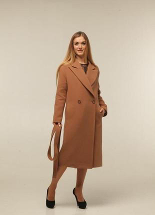 Пальто оверсайз кэмел женское