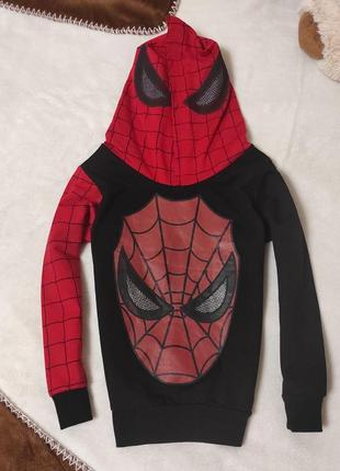 Кофта с капюшоном, spider man. худи