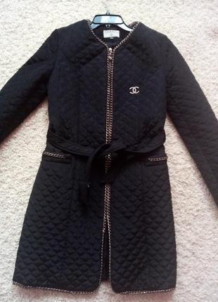 Пальто демисезонное стеганое, размер 46