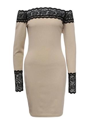 🔥облегающее платье с кружевом новое❗️❗️❗️ большой размер