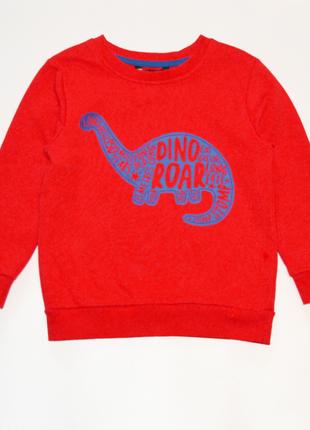 Красный свитшот реглан george на мальчика 5-6 лет