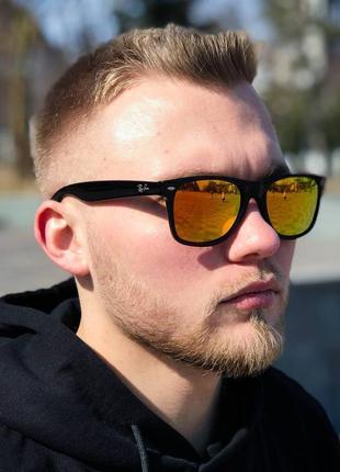 Распродажа! очки rayban wayfarer оранжевые отражающие