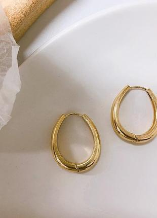 Cерьги серёжки винтаж винтажные ретро кольца капли под золото новые качественные