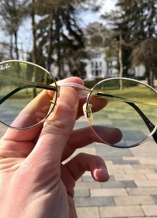 Распродажа! очки rayban пляжные желто-зелёные