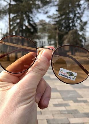Распродажа! очки pоlaroid фотохром (светло-коричневые)