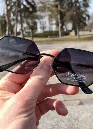 Распродажа! очки шестиугольной октагональной формы (черно-фиолетовый оттенок линз)