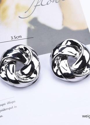 Cерьги серёжки винтаж винтажные ретро под серебро новые качественные