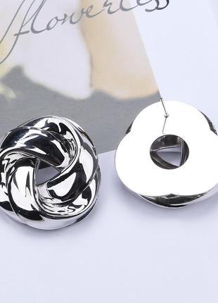 Cерьги серёжки винтаж винтажные ретро под серебро новые качественные2 фото