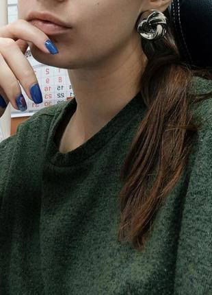 Cерьги серёжки винтаж винтажные ретро под серебро новые качественные4 фото