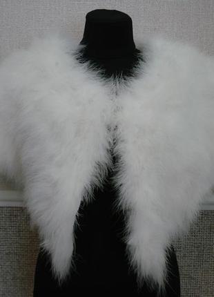 Свадебная горжетка палантин накидка на плечи из лебяжьего пуха