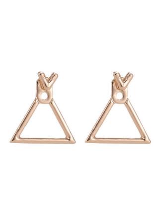 Серьги сережки гвоздики геометрия минимализм золотистые новые