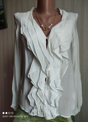 Блуза белая, база, вискоза