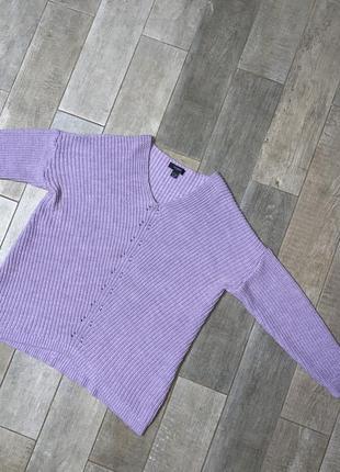 Сиреневый объемный свитер,оверсайз,лавандовый пуловер