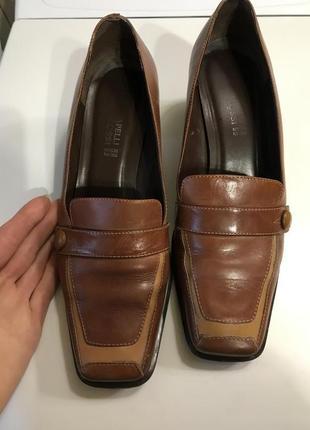 Крутые трендовые кожаные туфли квадратный носок