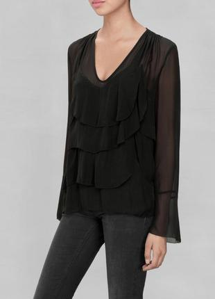 Шелковая блуза с рюшами  otherstories (s) есть нюанс