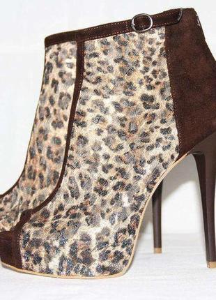Ботильоны замшевые, босоножки, туфли с открытым носком, новые, р.37