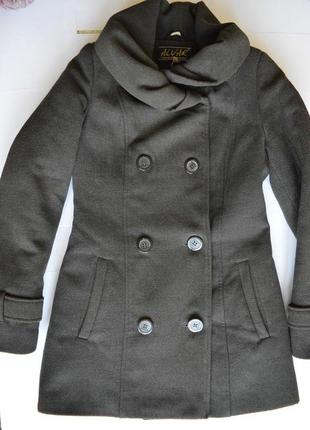 Пальто зимнее s/xs серое, пальто зимове, сіре шерсть
