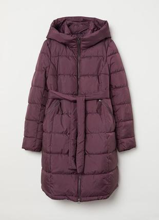 Пальто стеганое для беременных h&m m фиолетовое 5095308wt