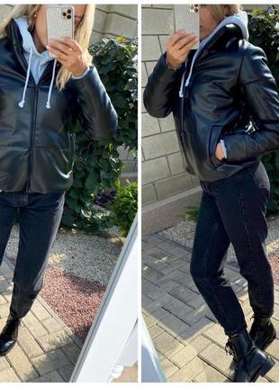 Куртка кожаная на силиконе. качество!2 фото