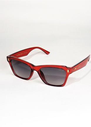 Солнцезащитные очки женские celine 40058 красные глянец
