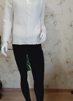 Белый свитер оверсайз h&m