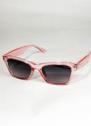 Солнцезащитные очки женские celine 40058 розовые глянец