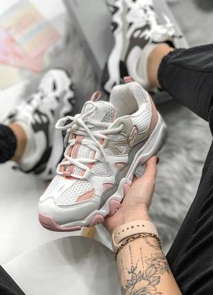 Skechers d'lites pink/white