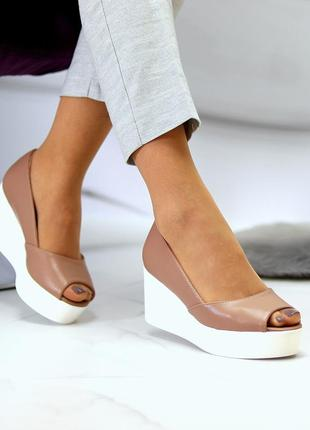 """Открытые туфли """"angel"""" женские эко-кожа"""
