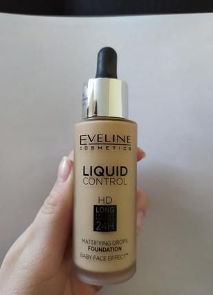 Тональний крем eveline liquid control 020