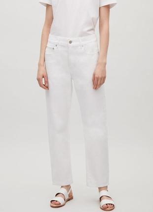 Белые укороченные джинсы cos