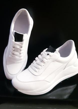 Удобные кожаные женские кроссовки, новинки сезона, 36-41