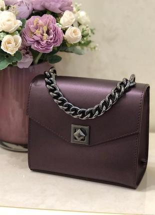 Итальянские кожаные сумочки клатчи фиолетовые сумки шкіряні італія