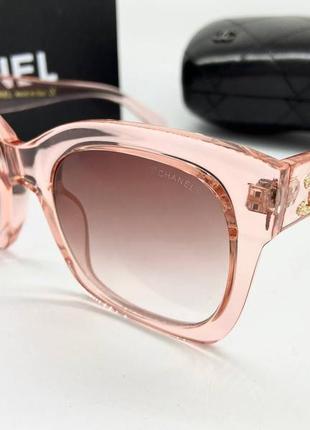 Chanel женские солнцезащитные очки розовые