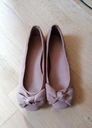 Балетки туфли туфлі с квадратным носом мысом