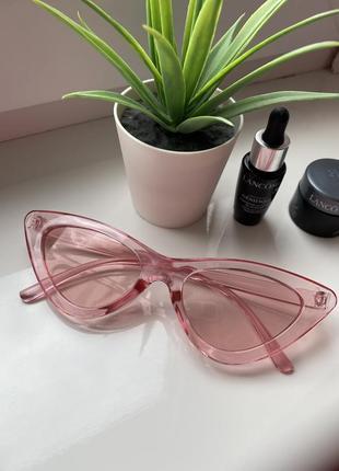 Очки солнцезащитные солнечные стильные розовые хитовые летние