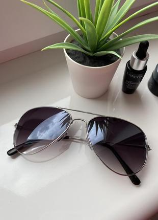 Очки солнцезащитные новые солнечные зеркальные капельки стильные летние1 фото