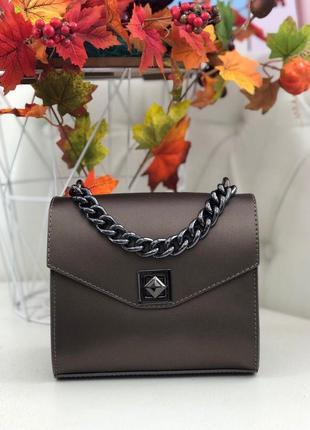 Итальянские кожаные сумочки клатчи бронзовые сумки шкіряні італія