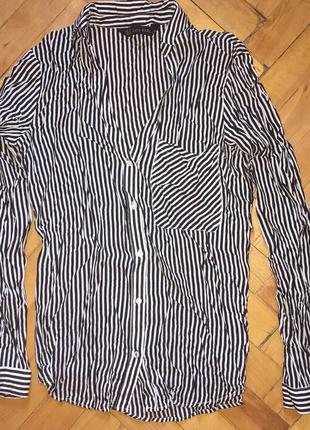 Блуза / рубашка / сорочка в полоску zara