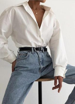 Белая рубашка оверсайз на весну кофта белая кардиган