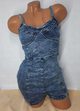 Комбинезон женский джинсовый,  комбез,  шорты