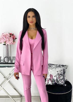 Брючный костюм женский брюки пиджак демисезон весна