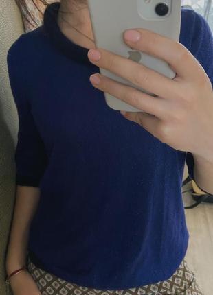 Пуловер синий люрекс