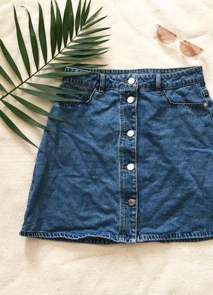 Актуальная джинсковая мини юбка denim co