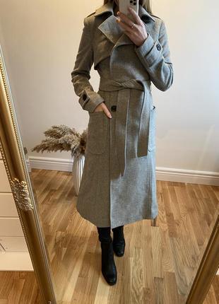 Пальто люксового бренда супер качество!! 70% шерсть!!
