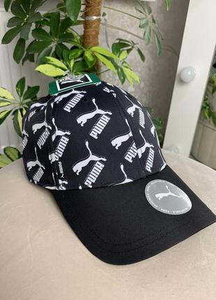 Puma пума новая кепка оригинал 100% с сша чёрная унисекс с логотипом