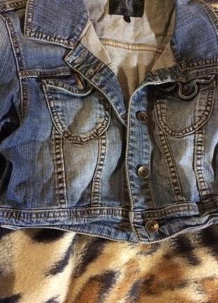 Короткая джинсовая курточка болеро