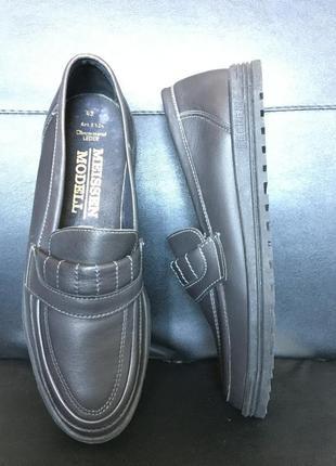 Туфлі лофери, германію, натуральна шкіра 43р 28см