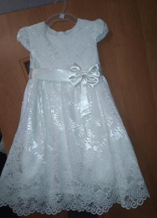Платье нарядное, гипюровое, праздничное