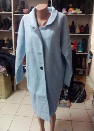 Женское кашемировое пальто оверсайз, размеры 44,46,48,50,52 размеры