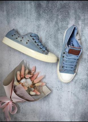 Джинсовые кеды кроссовки в стиле converse